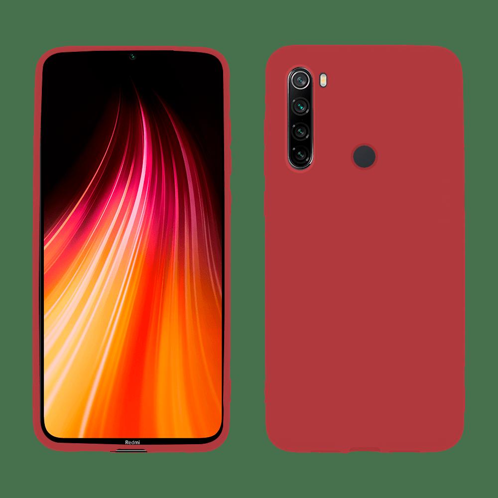 Capa de Silicone vermelho para Smartphone Xiaomi Redmi Note 8