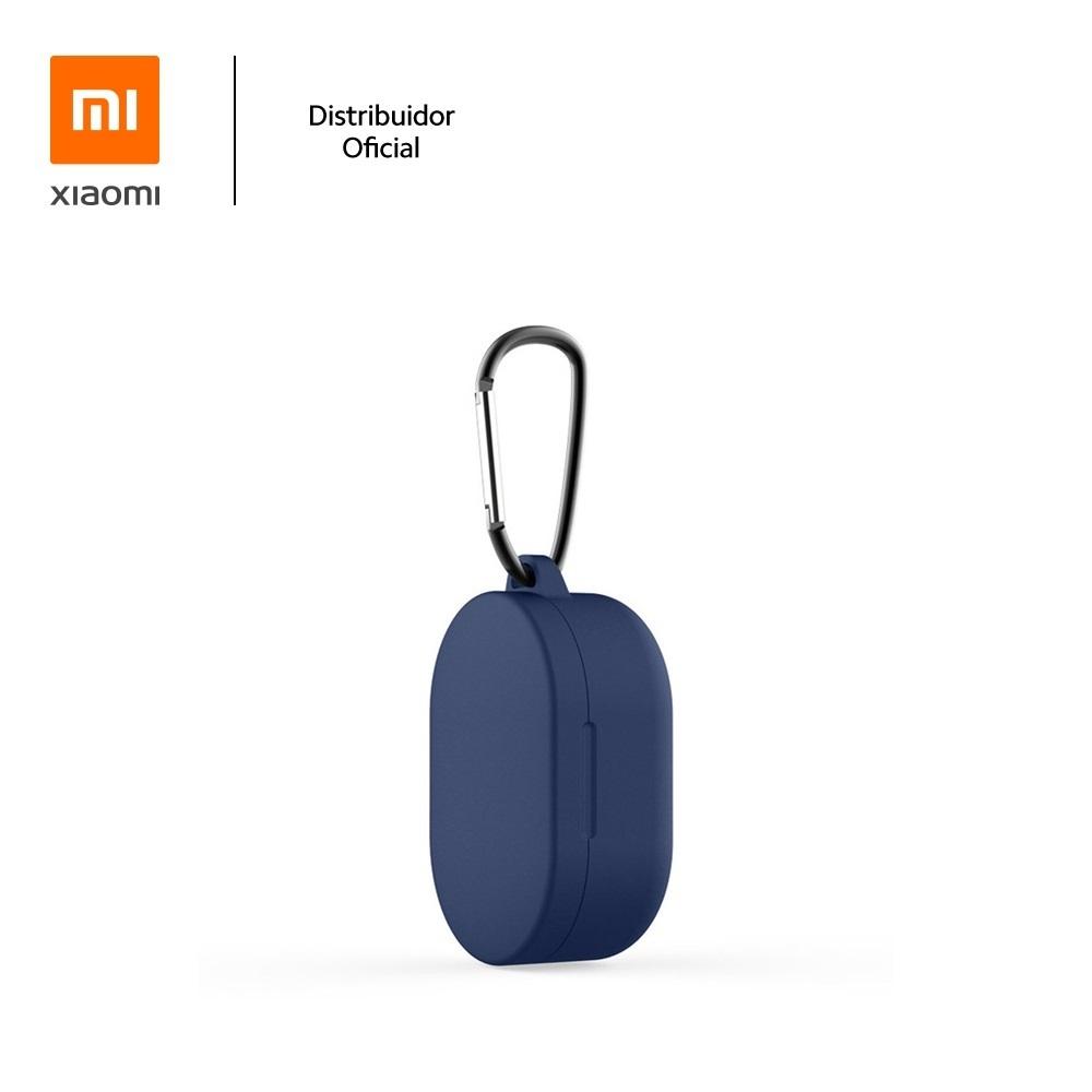 Capa Protetora de Silicone com Mosquetão para Fone Bluetooth Xiaomi Earbuds/Airdots