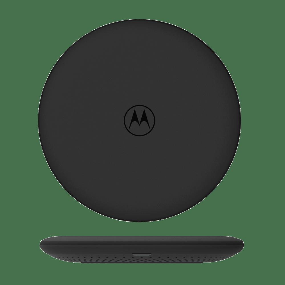 Carregador Wireless Motorola 10W - 127-240V - Tecnologia QI e indicador LED - Preto