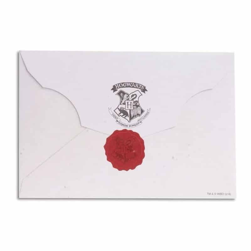 Carta de aceitação Hogwarts (Réplica)