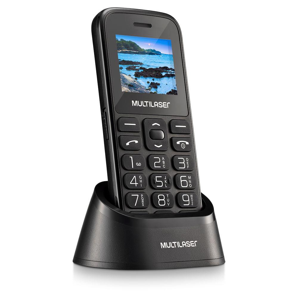 Celular Vita com Base Tela 1.8 Pol. Dual Chip 2G USB Bluetooth Preto - P9121