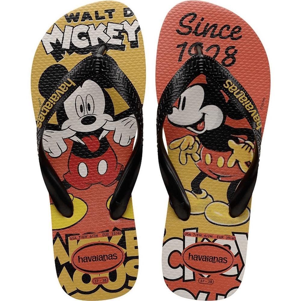 Chinelo Havaianas Infantil Disney 27/28 Stylish Mickey Mostarda