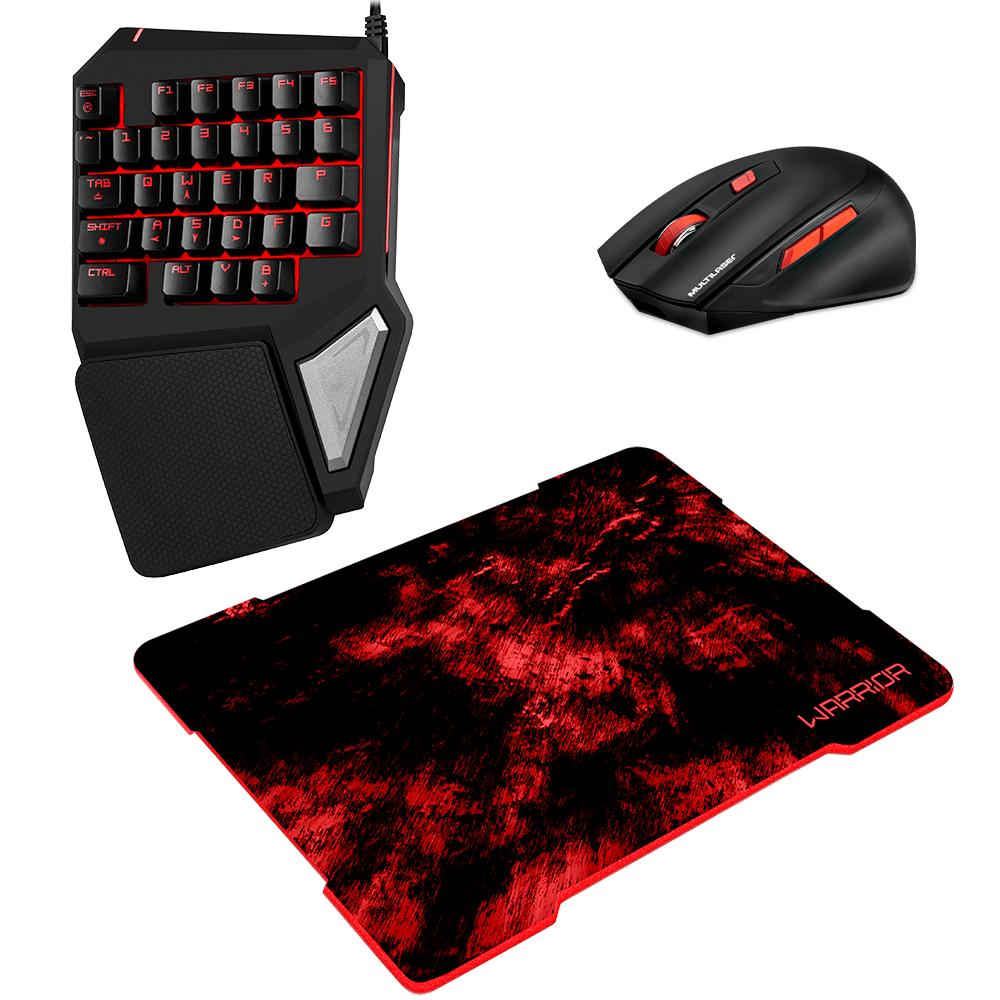 Combo Gamer - Teclado One Hand com Mouse Pad e Mouse Wireless 2400dpi - TC238K