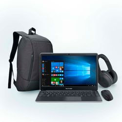 Combo Notebook Multilaser Legacy Book 4GB 64GB + Mochila Swisspack + Headphone + Mouse - PC238