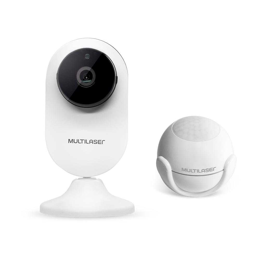 Combo Segurança - Câmera Interna Inteligente HD Wi-Fi e Sensor de Presença Inteligente Wi-Fi Multilaser Liv - SE230K
