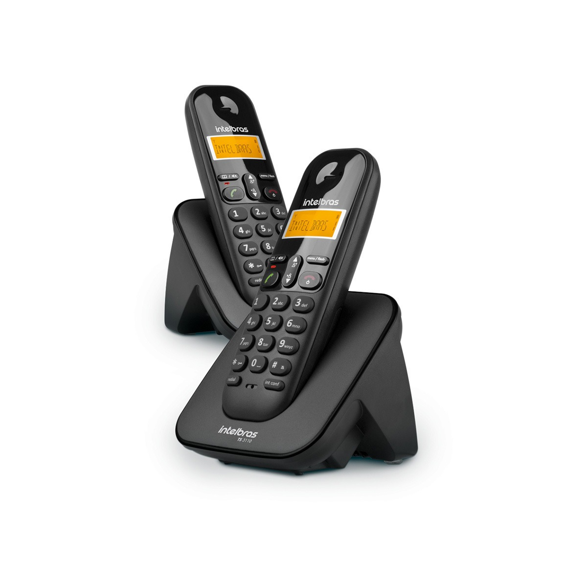 Combo Telefone sem Fio Digital + Ramal Intelbras TS 3112 Preto