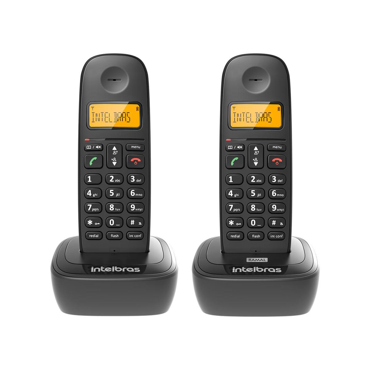 Kit Telefone sem Fio Intelbras + Ramal TS 2512