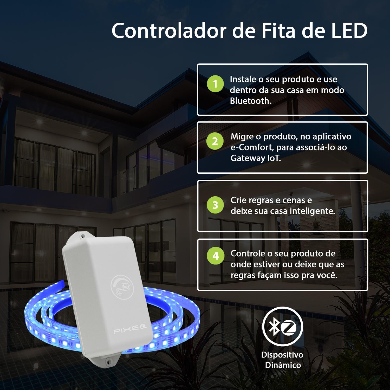 Controlador de Fita de LED Bluetooth - Pixel TI - C011CRGB