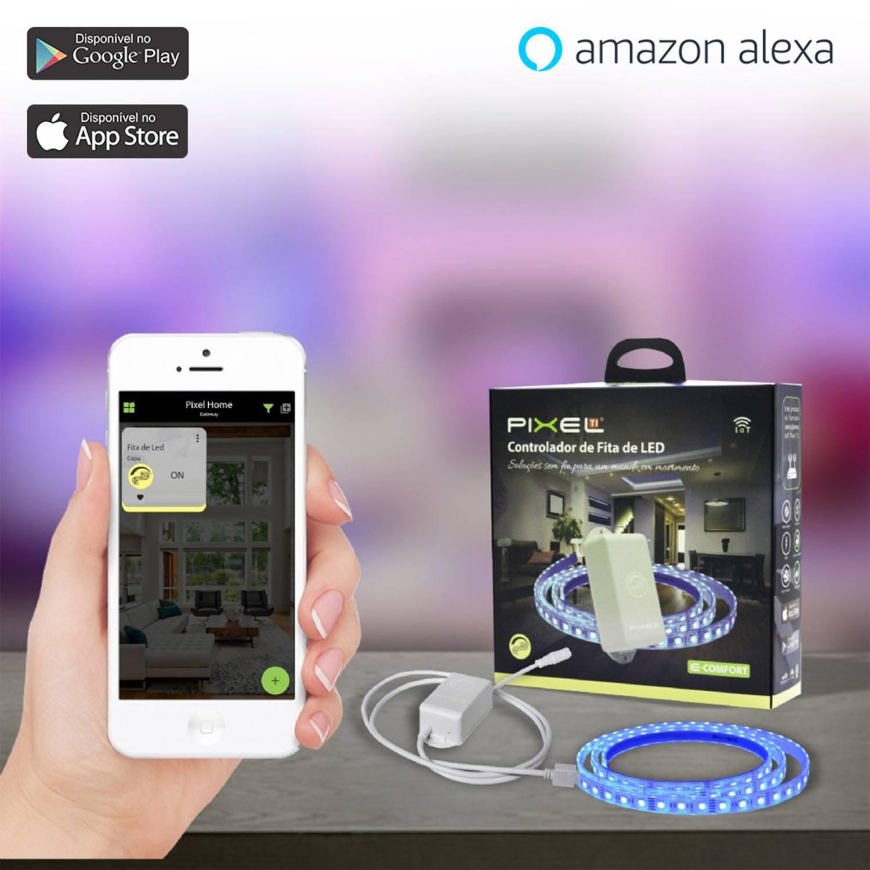 Controlador de Fita de LED Bluetooth Pixel TI C011CRGB - Compatível com Alexa - Smart Home
