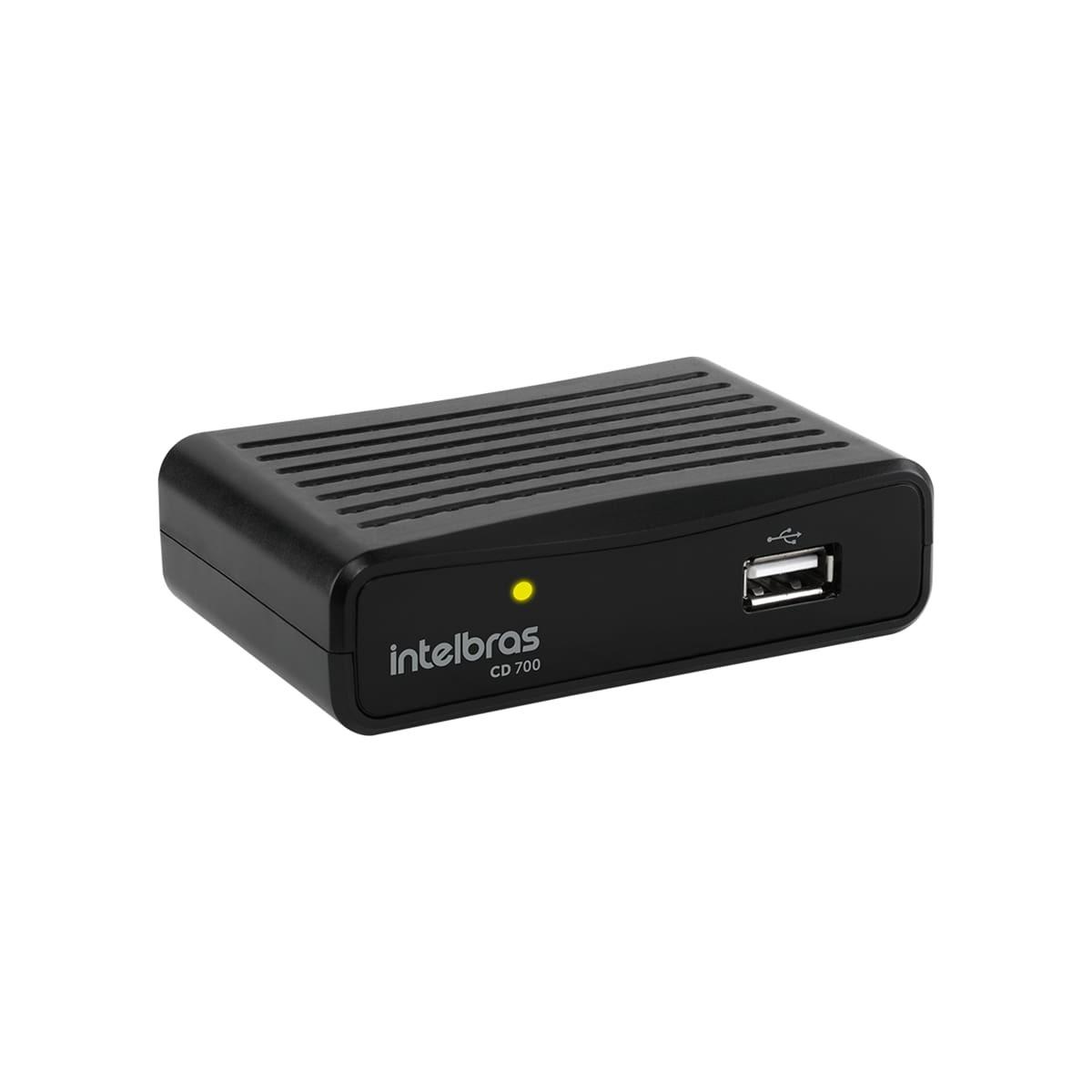 Conversor Digital de TV Intelbras com Gravador CD 700