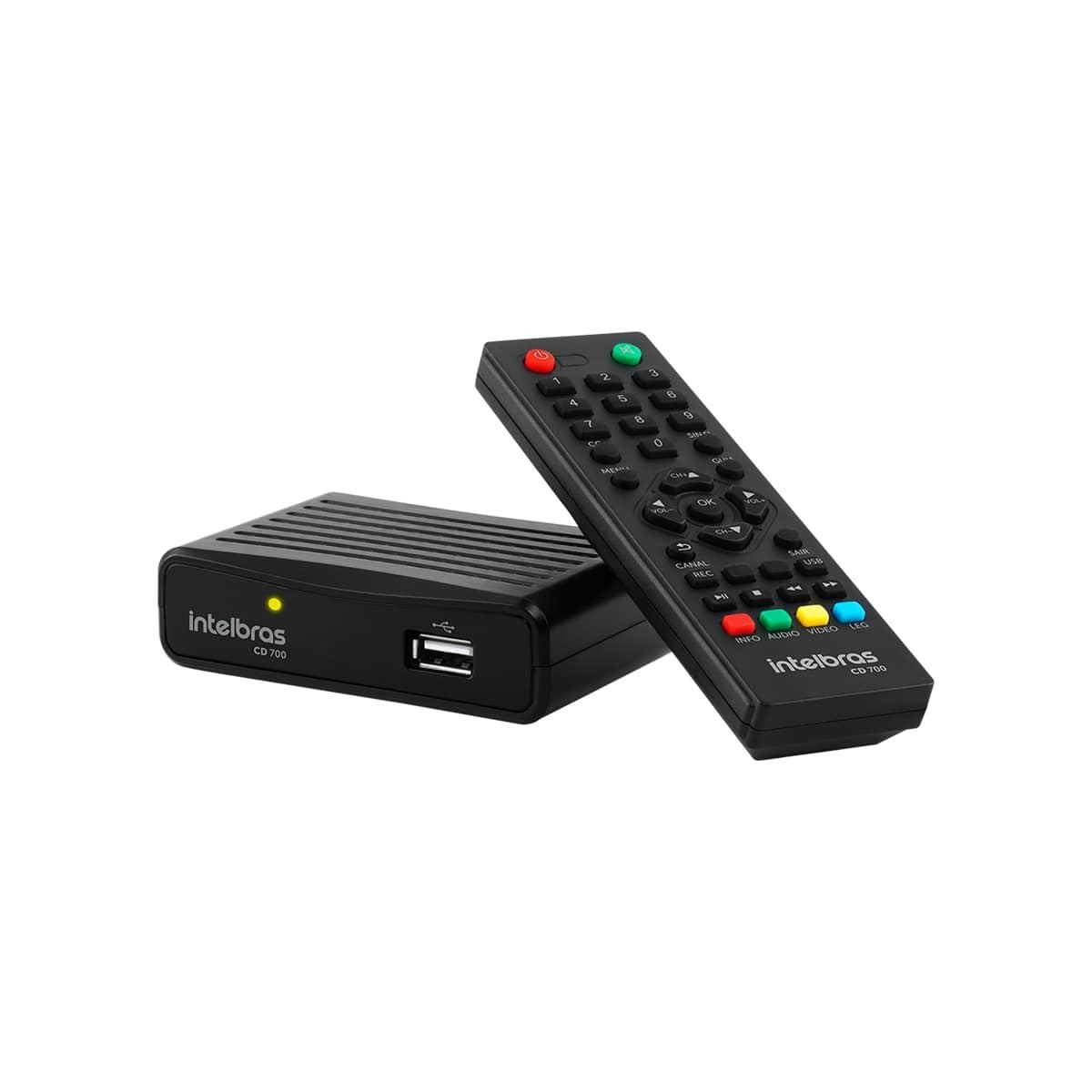Conversor Digital de TV Intelbras com Gravador CD 700