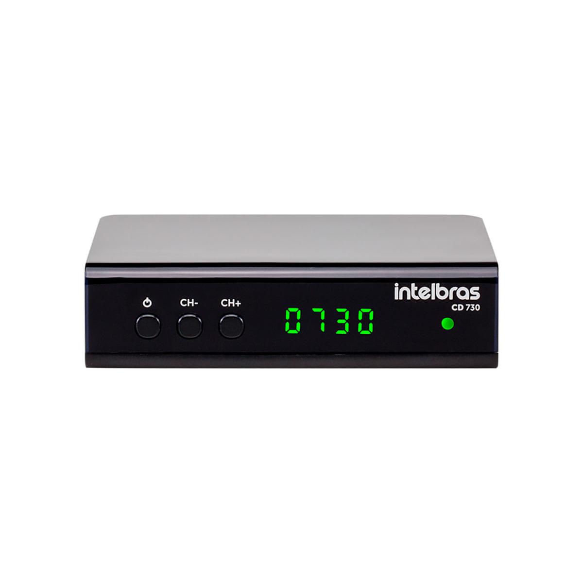 Conversor Digital de TV Intelbras com Gravador CD 730