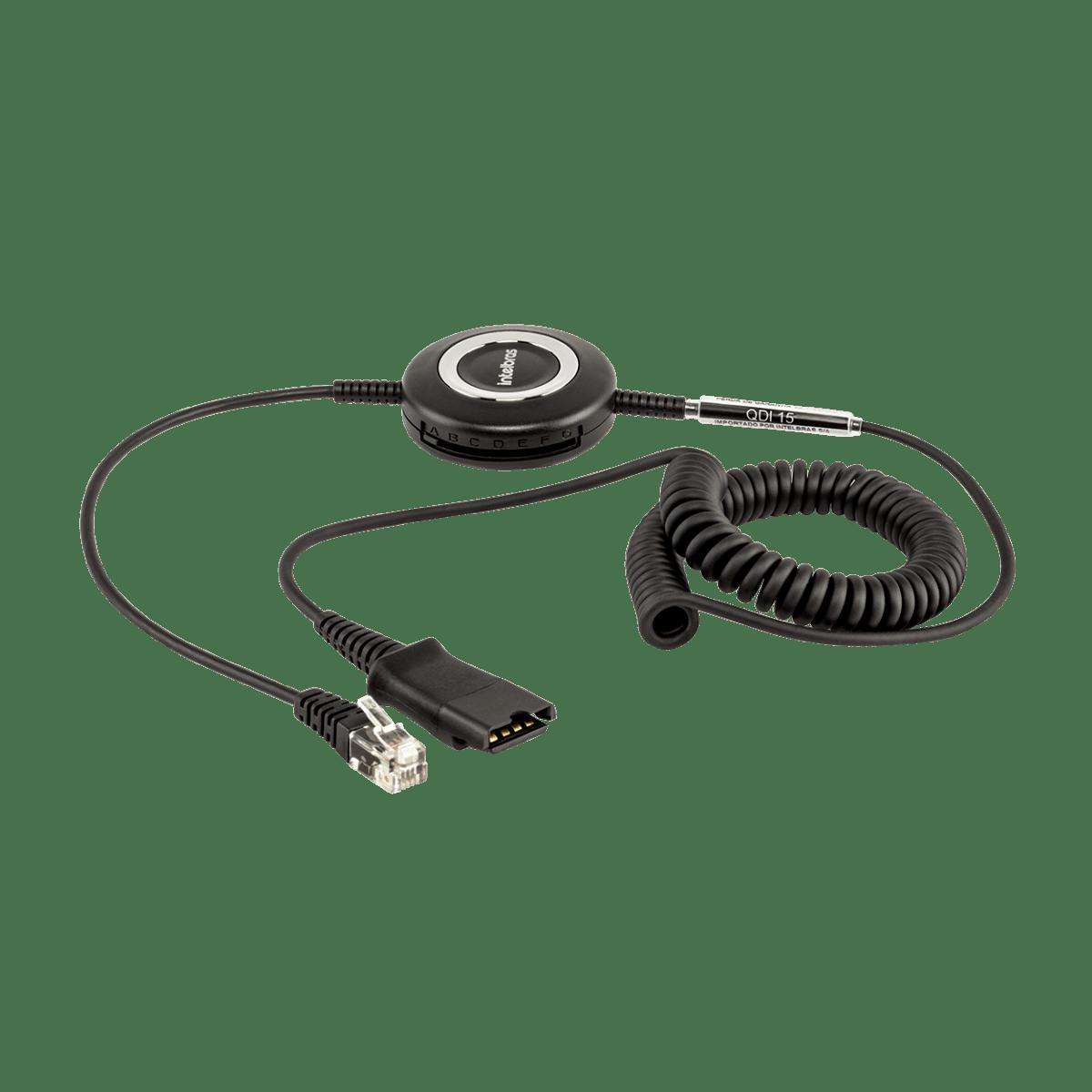 Cordão para Headset Intelbras QD-RJ9 QDI 15