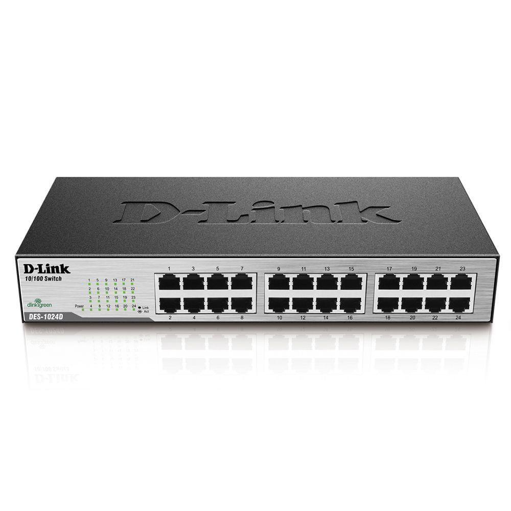 DES 1024D Switch Fast Ethernet 24 portas