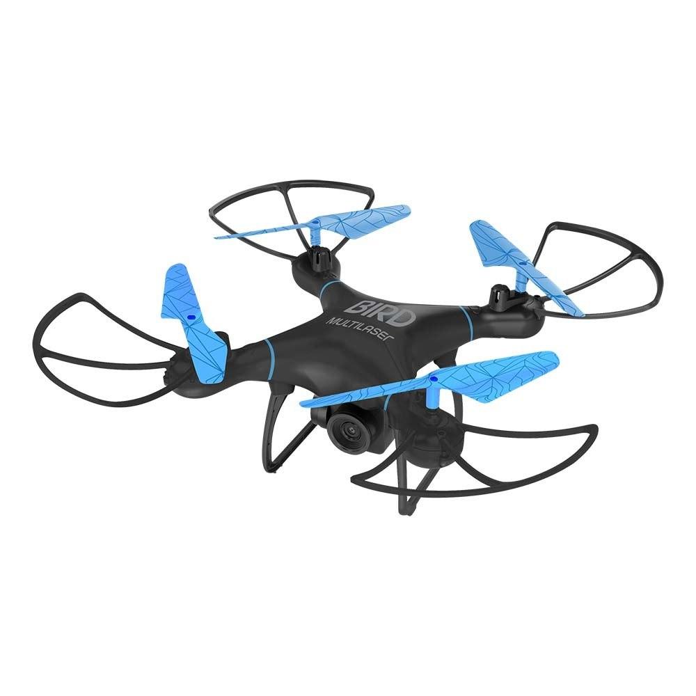 Drone Multilaser Bird Câm HD 1280P Bateria 22 min. Alcance 80m Flips em 360° Controle remoto - ES255