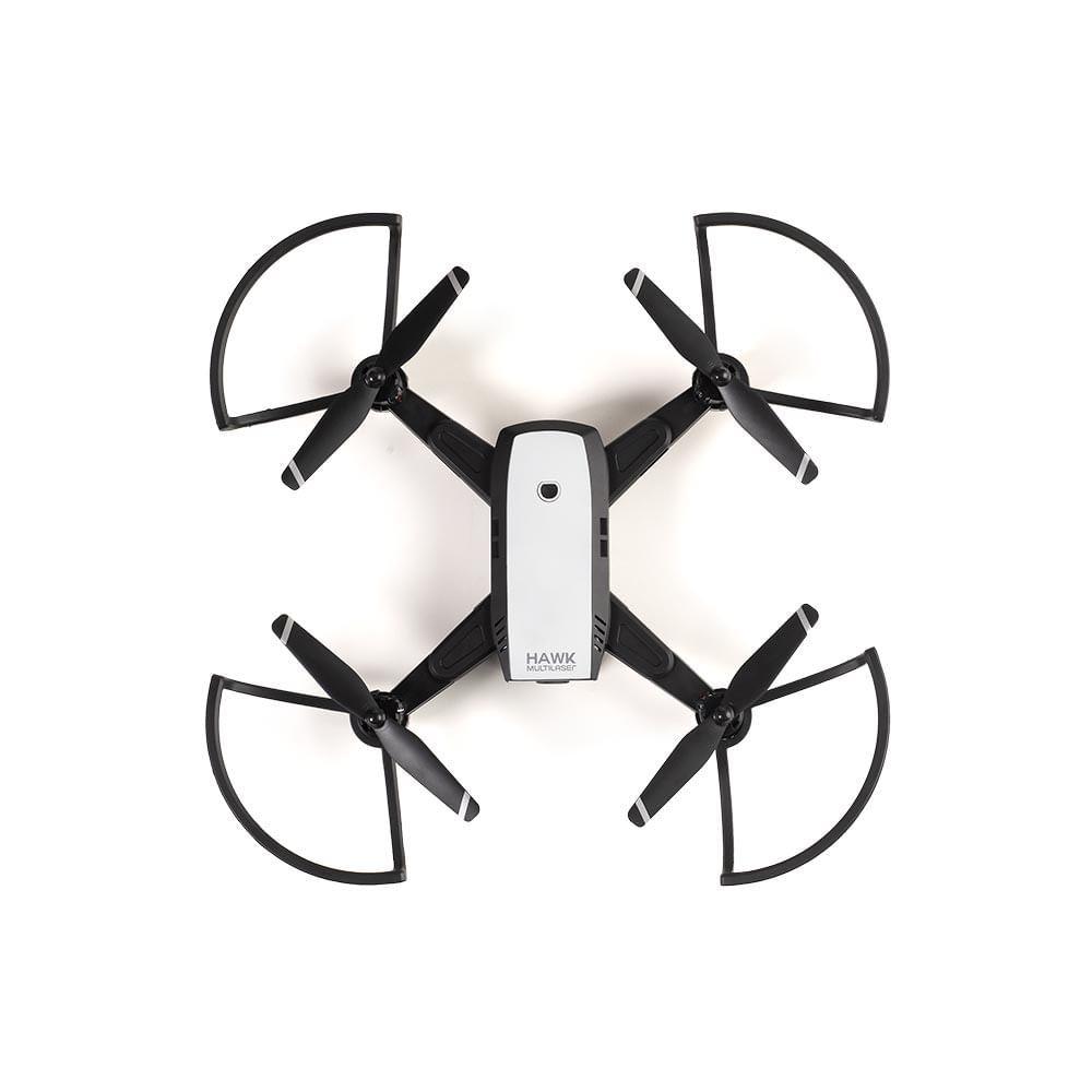 Drone Multilaser Hawk GPS FPV Câmera HD 1280P Bateria 10 minutos Alcance de 150m Preto - ES257