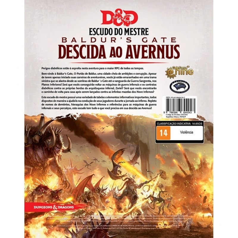 Dungeons & Dragons Decida ao Avernus Screen - Galápagos