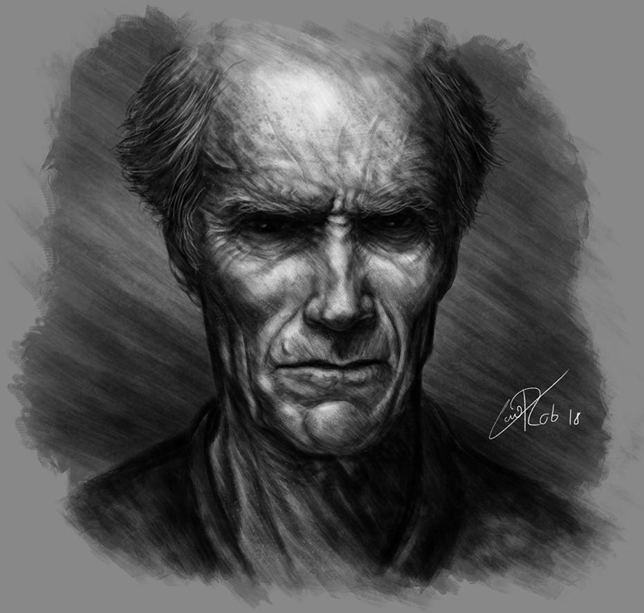 Clint Eastwood - Pintura Digital
