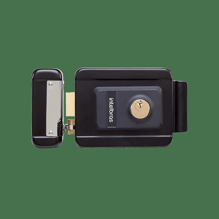 Fechadura Elétrica de Cilindro Fixo Intelbras FX 2000 Preta