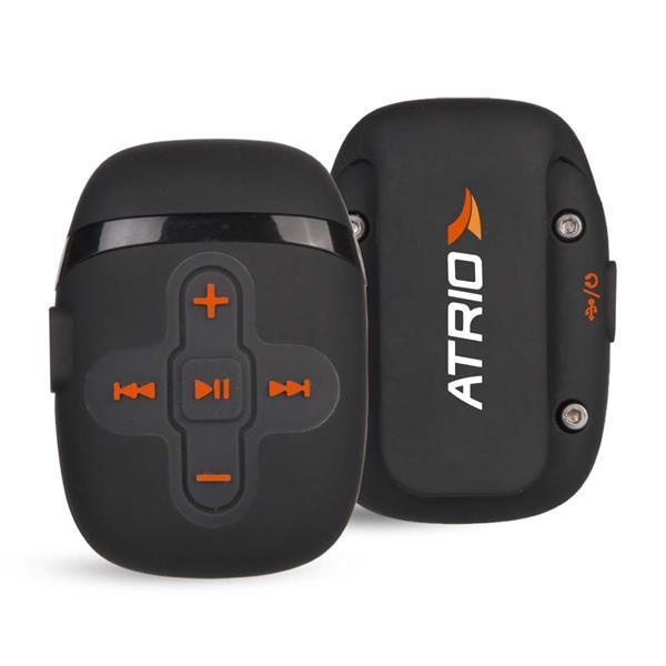Fone de Ouvido MP3 Sport Recarregável à Prova DÁgua com Braçadeira para Suporte Preto Atrio - ES167
