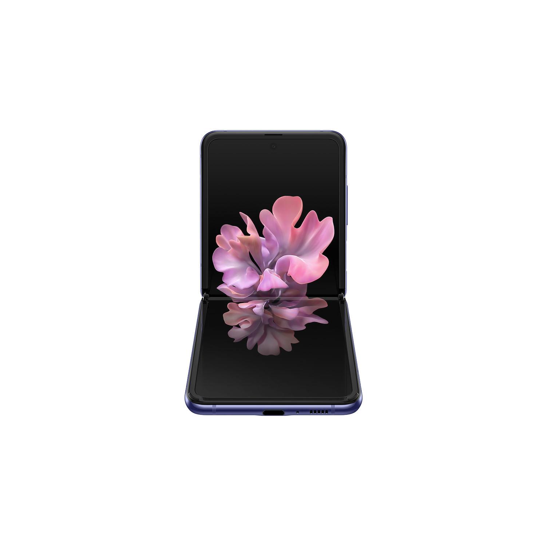 Smartphone Samsung Galaxy Z Flip com tela dobrável, 256GB, 8GB de RAM, Câmera Dupla Traseira de 12MP+12MP, Frontal de 10MP, Dual Chip, Android