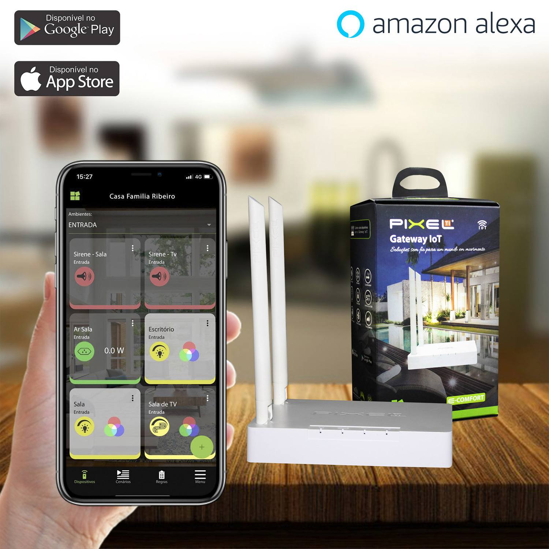 Gateway IoT Pixel TI C001GIOT Compatível com Alexa - Smart Home - Automação Residencial
