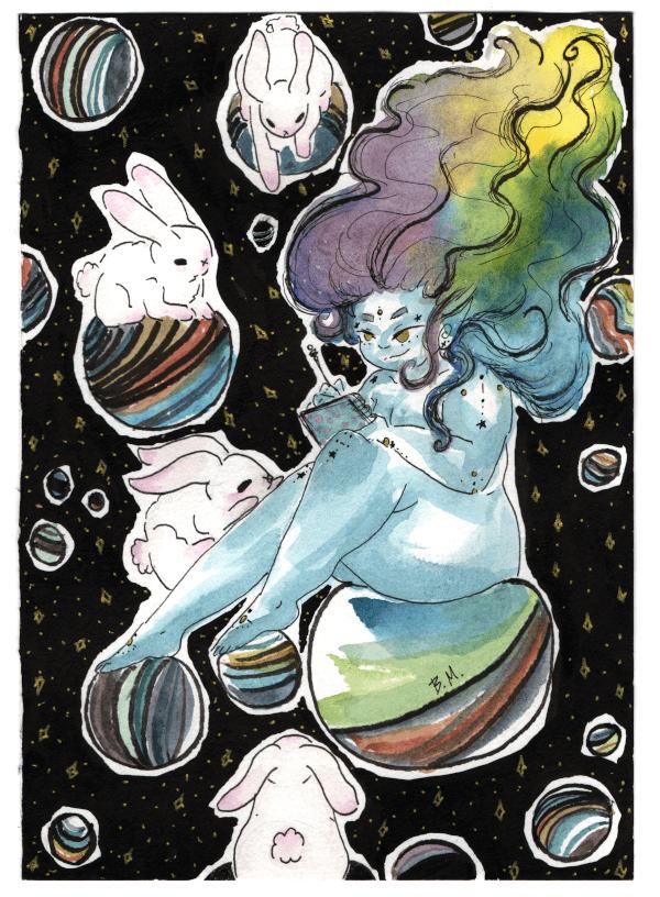 Gaya e os coelhos espaciais - print