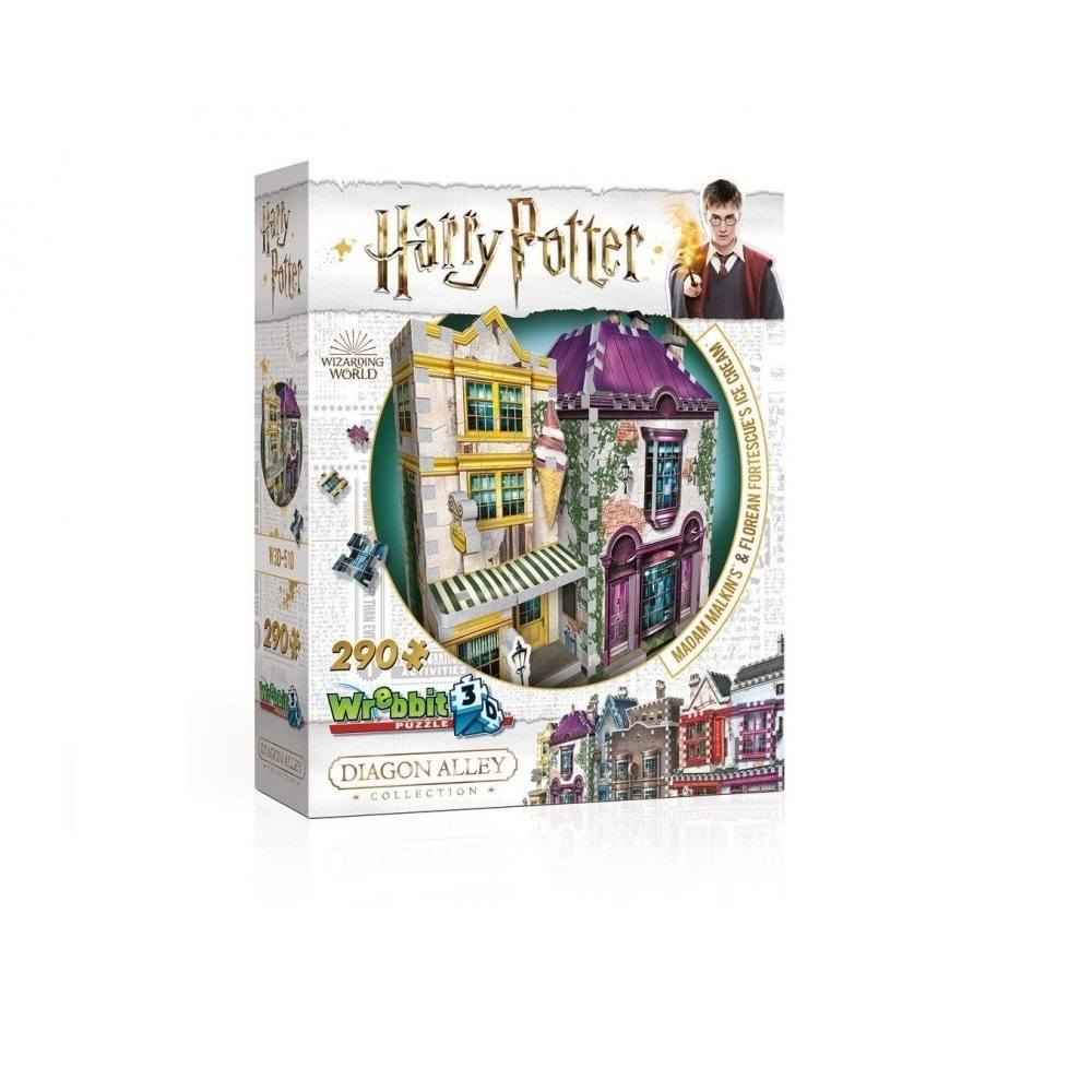 Harry Potter Puzzle 3D 290 Pçs - Madame Malkin e Florean Fortescue - Galápagos