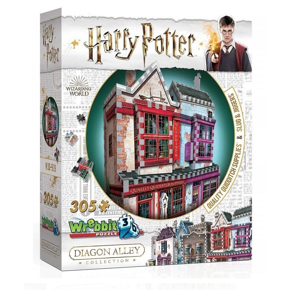 Harry Potter Puzzle 3D 305 Pçs Quadribol e Apotecário - Galápagos