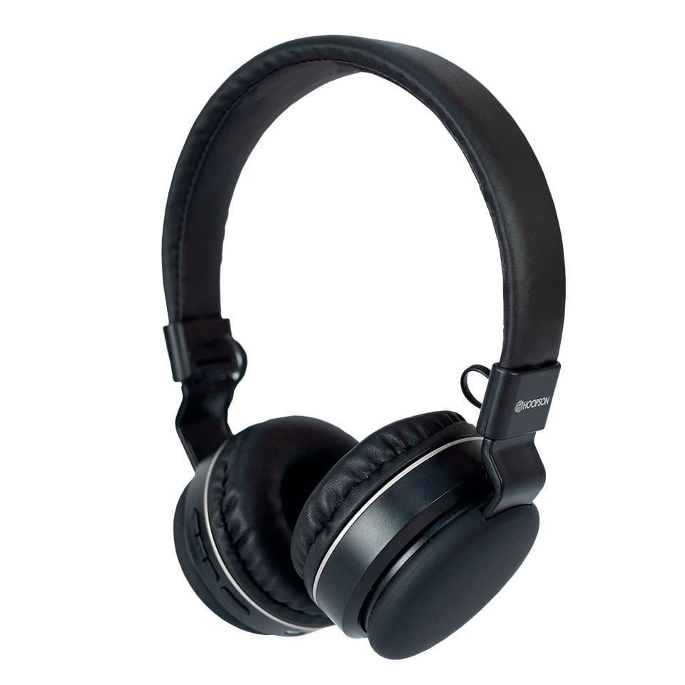 Headphone Bluetooth Hoopson F-48S Preto e Prata