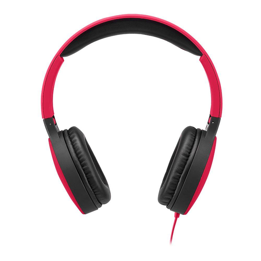 Headphone Dobrável New Fun P2 Multilaser Vermelho - PH270