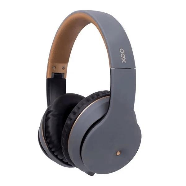 Headset Bluetooth 5.0 OEX Spot HS313 Chumbo com Case com Zíper