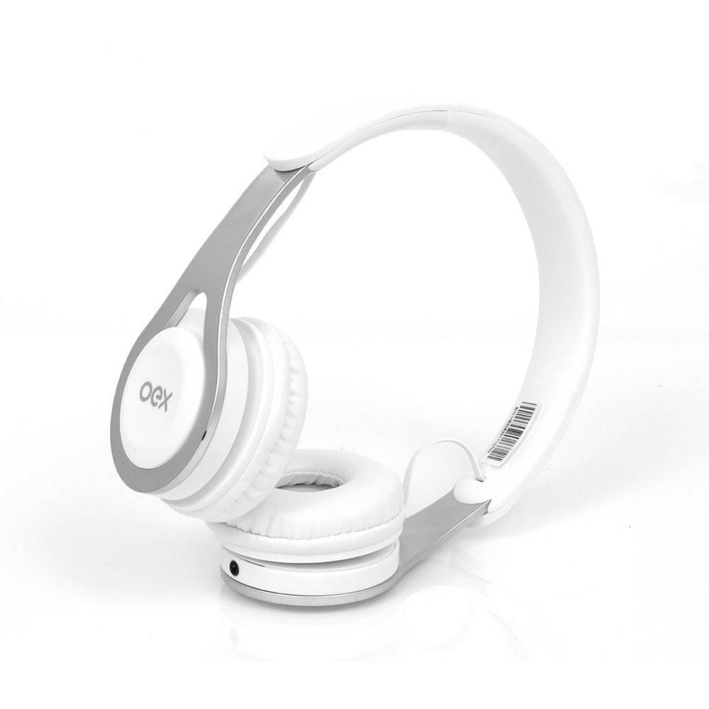 Headset Bluetooth Drop OEX Branco