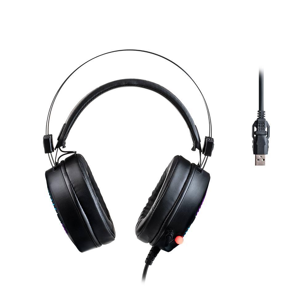 Headset Gamer Warrior Flamma USB 2.0 Stereo LED RGB - PH306