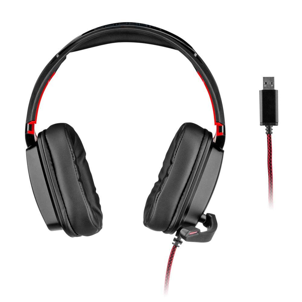 Headset Gamer Warrior Kaden USB 2.0 Stereo LED RGB - PH301