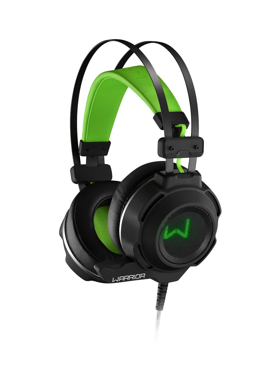 Headset Gamer Warrior Swan USB+P2 Stereo Preto/Verde - PH225