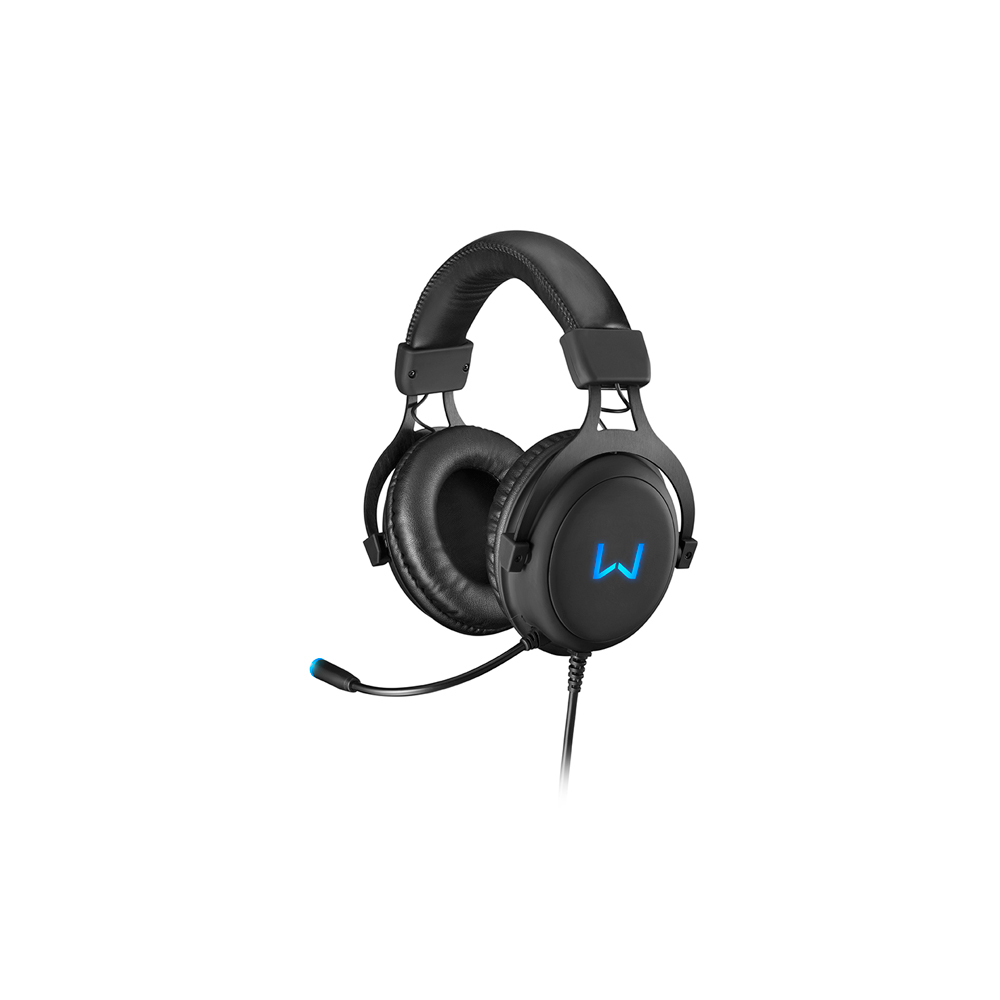 Headset Gamer Warrior Volker USB 7.1 3D Surround Sound LED Azul - PH258