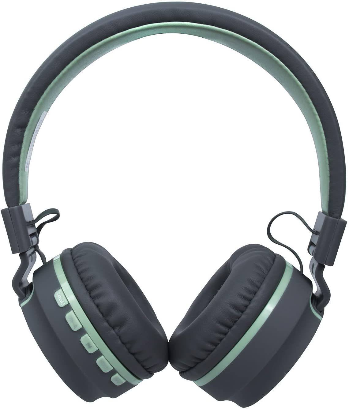 Headset OEX Candy Cinza Com Verde Claro HS310