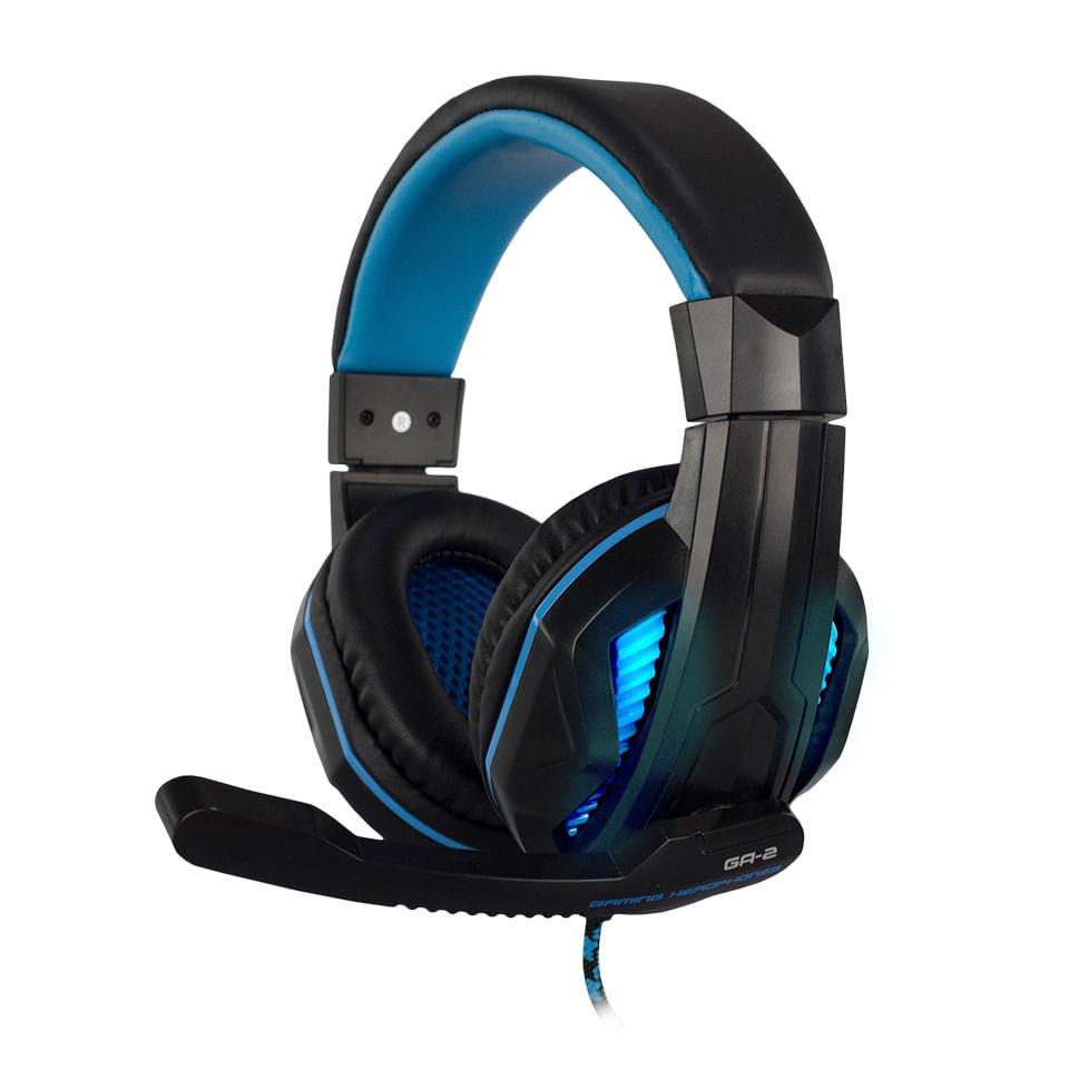Headset Pro Game Stereo Hoopson GA-2 Preto e Azul