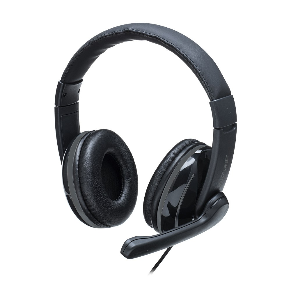 Headset Pro Multilaser P2 Preto/Cinza - PH316