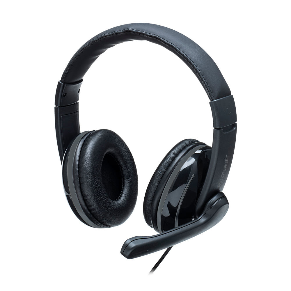 Headset Pro Multilaser USB Preto/Cinza - PH317