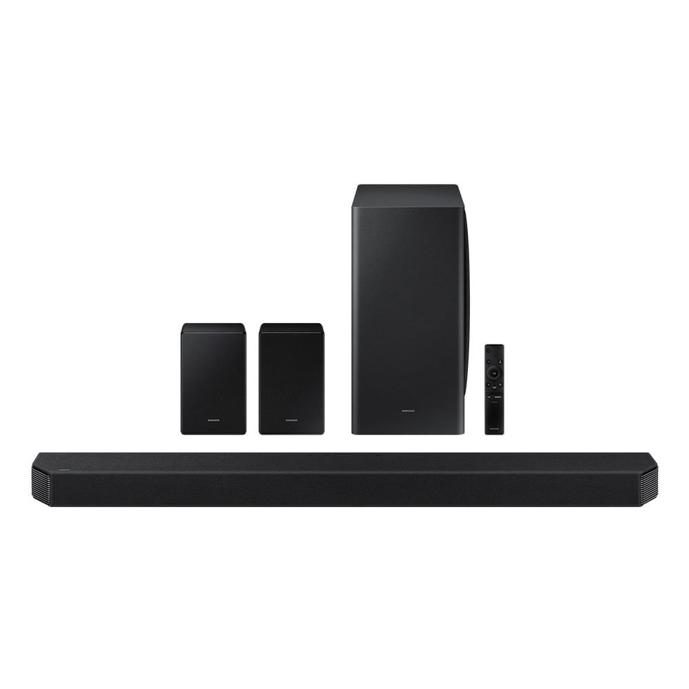 Soundbar Samsung HW-Q950A Com 11.1.4 canais, Dolby Atmos, Acoustic Beam, Sincronia Sonora