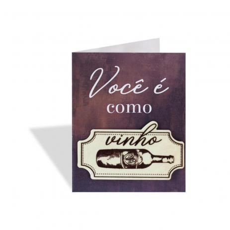 Ímã Cartão Vinho