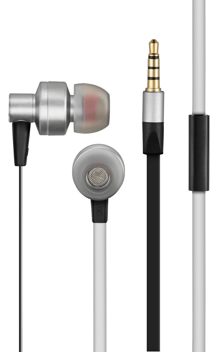 In Ear Headset Stereo Áudio Wired Cinza - PH156