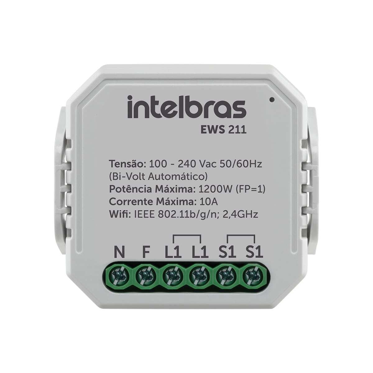 Interruptor Controlador de Cargas Wifi 1/1 EWS 211 Intelbras