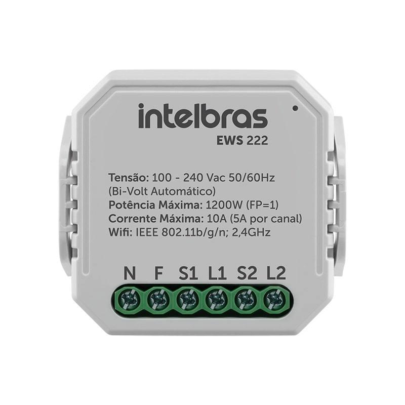 Interruptor Controlador de Cargas Wifi 2/2 EWS 222 Intelbras