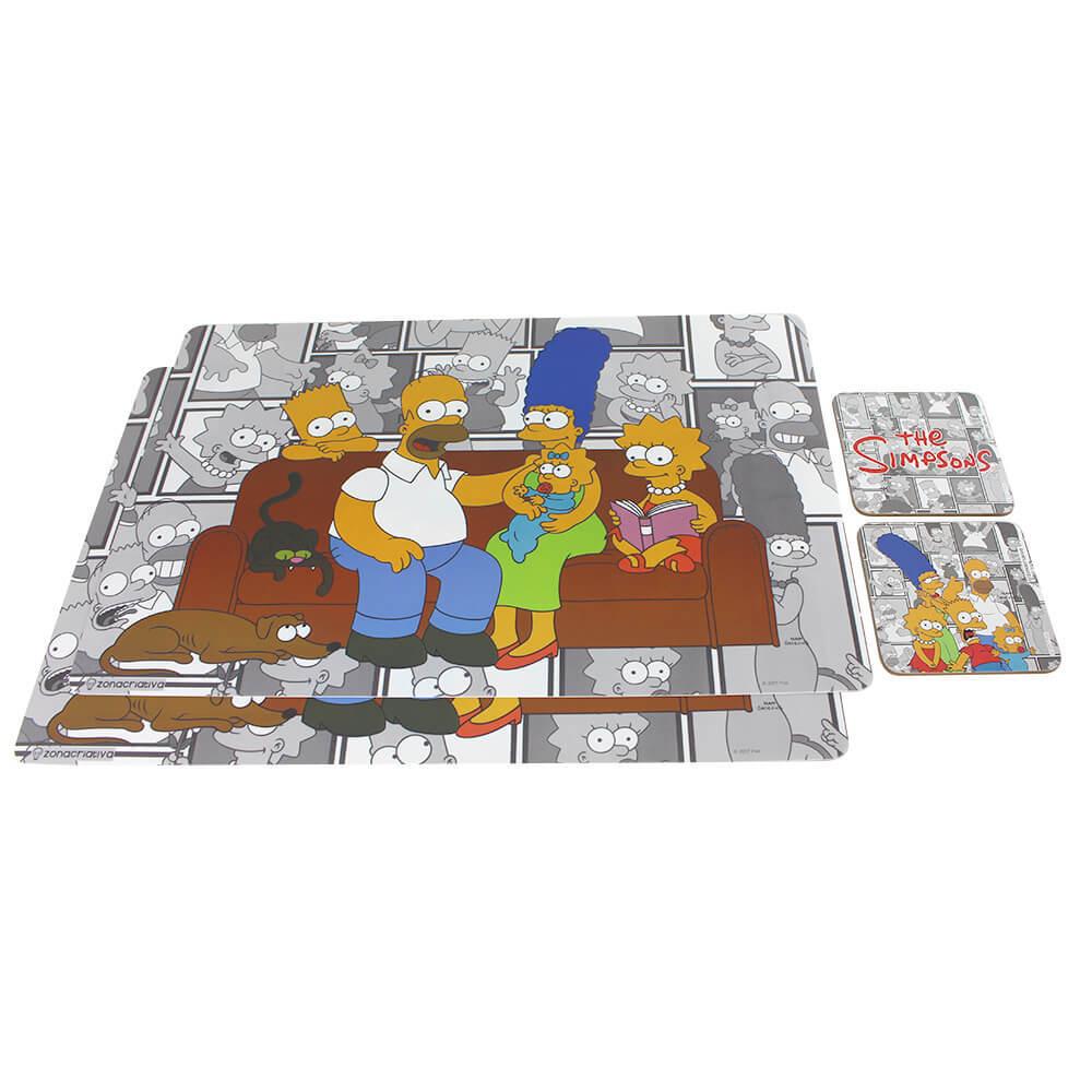 Jogo Americano e Porta-Copos Simpsons