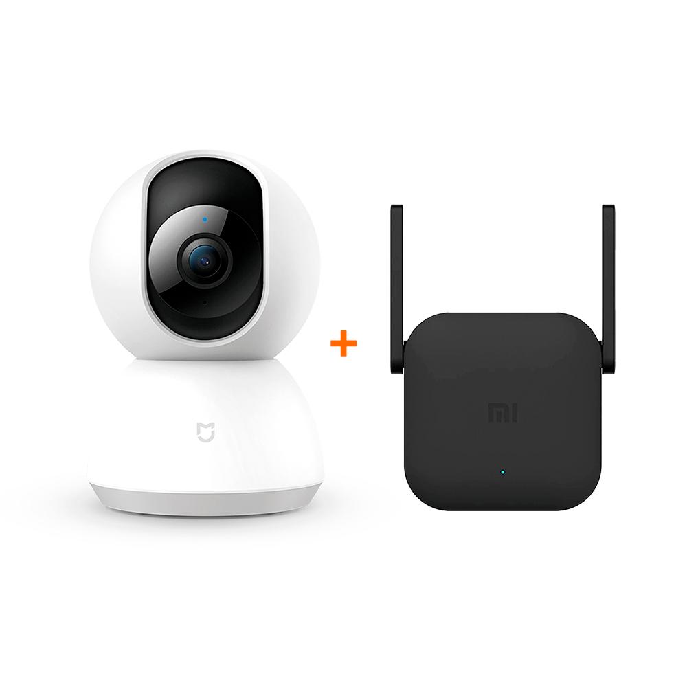 Kit Câmera de Segurança 360 e Repetidor de Wifi Range Extender