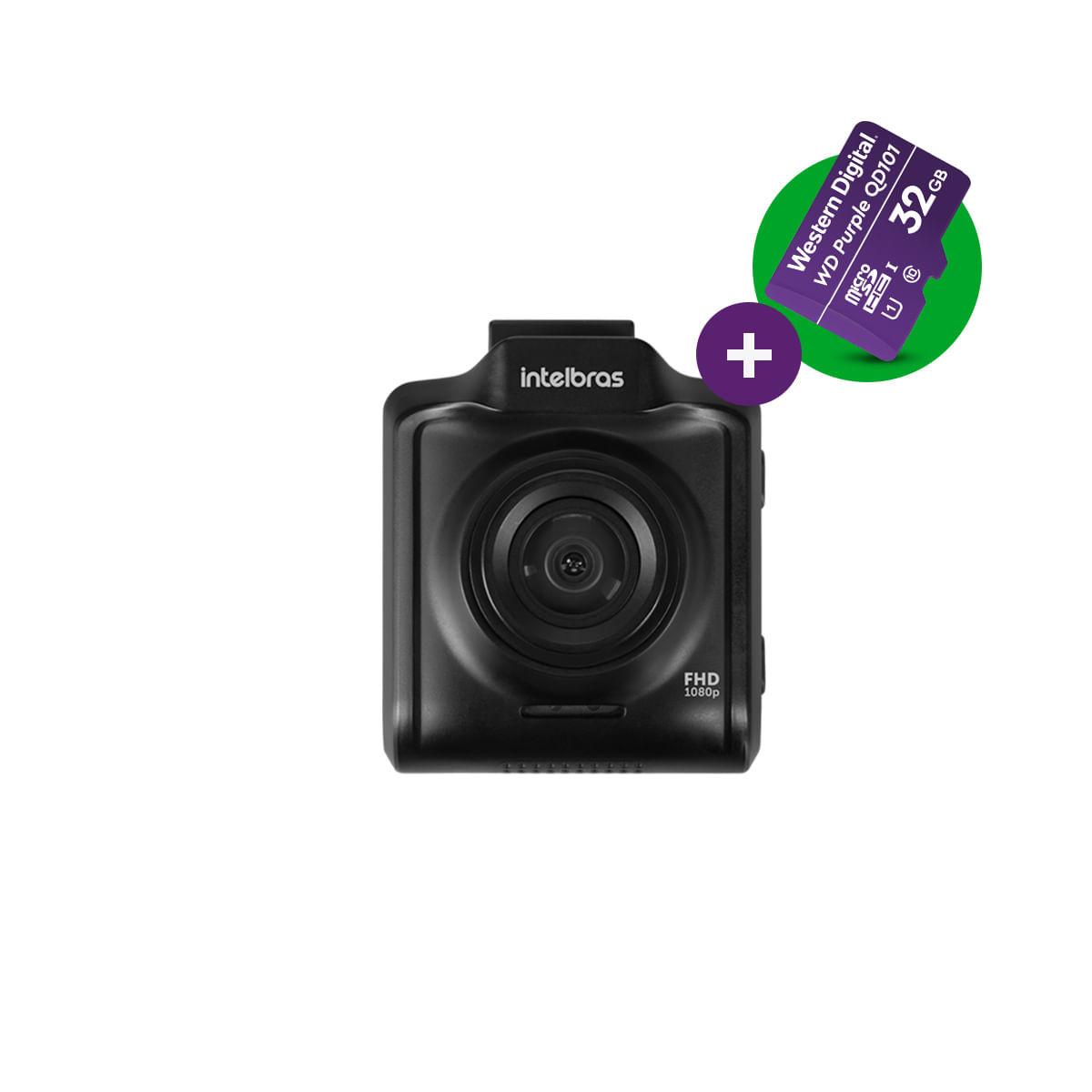 Kit Câmera Veicular Full HD Intelbras DC 3101 c/ microSD 32GB