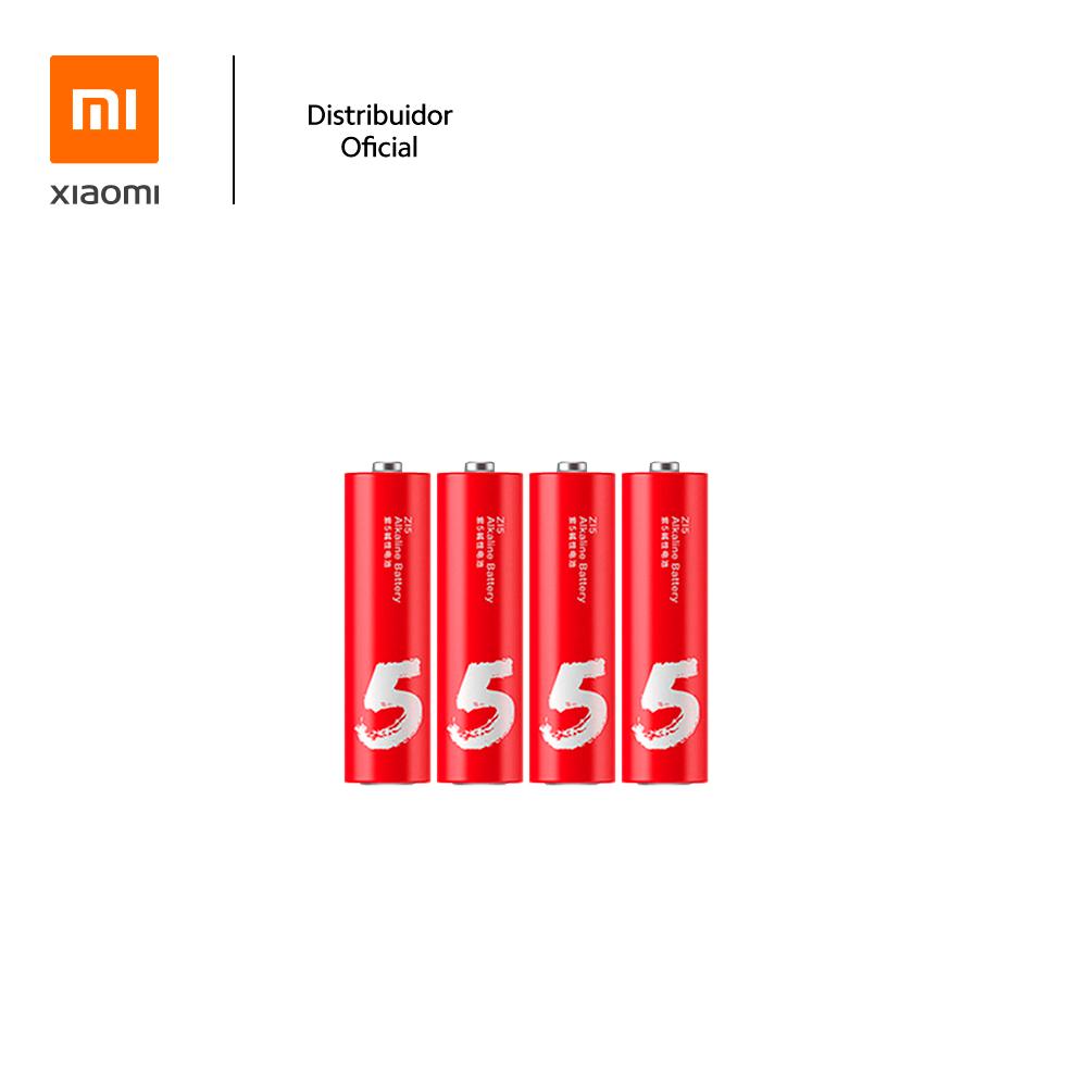 Kit Com 4 Pilhas Alcalinas AA ZI5 Xiaomi, Longa Duração